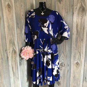Size 18/20 Lane Bryant Blue Flower Dress